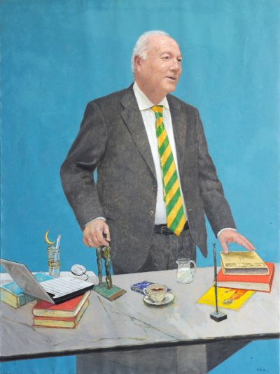 Miguel Ángel Moratinos. Ministry of Foreign Affairs Collection. 2012. Oil on cloth. 130×97 cm