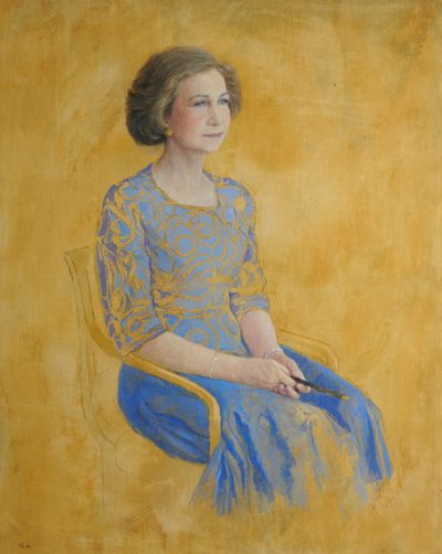 S.M. Reina Sofía. Preparatory Portrait for the Spanish Parliament. 2002. Oil on cloth. 106,5×86 cm