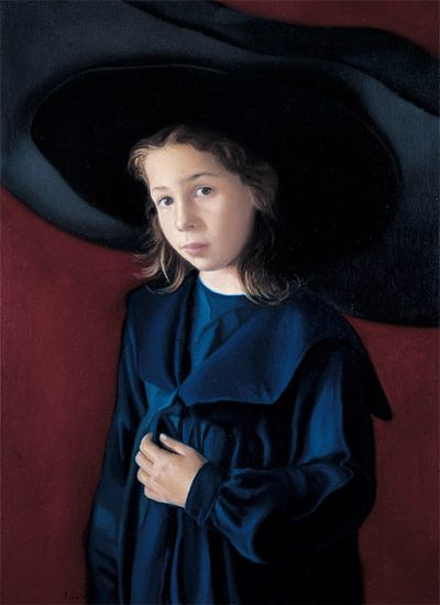 Sombrero Grande. 1985. Oil on cloth. 75×72 cm